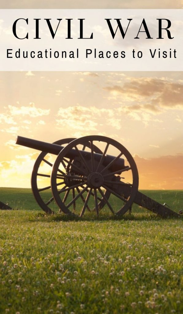 Roadschooling gives us the advantage to be able to learn Civil War Facts by visiting Civil War sites in person! See our top 11 sites to visit! #civilwar #ourroaminghearts #roadschooling #studyingthecivilwar | Lessons for kids | Civil War | History | Studying the Civil War | Civil War Facts | Roadschooling