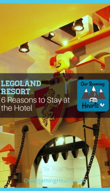 Heading to Legoland and not sure if the Legoland Hotel is worth your money? These 6 reasons (& pictures) will convince you to stay at the Legoland Resort. #ourroaminghearts #legolandresort #winterhavenfl #legolandrestorthotel #familytravel #frugaltravel   Family Travel   Winter Haven Florida   Legoland Resort Hotel Review   Legoland Resort   Florida Travel   Family Attractions in Florida