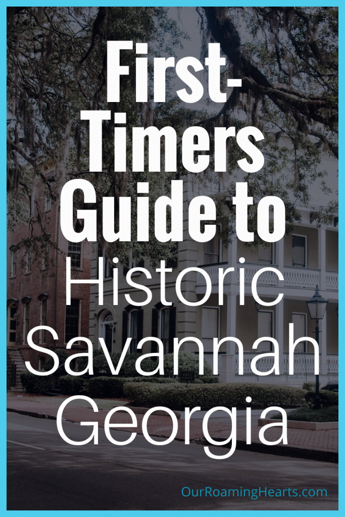 Heading to Historic Savannah Georgia anytime soon? Here is ALL you need to know about where to stay and even sites to see. #ourroaminghearts #savannah #georgia #travelguide #frugaltravel #firstimersguide | Historic Savannah Georgia | Savannah | Georgia | Travel Guide | Frugal Travel | Things to do in Savannah | Places to stay in Savannah