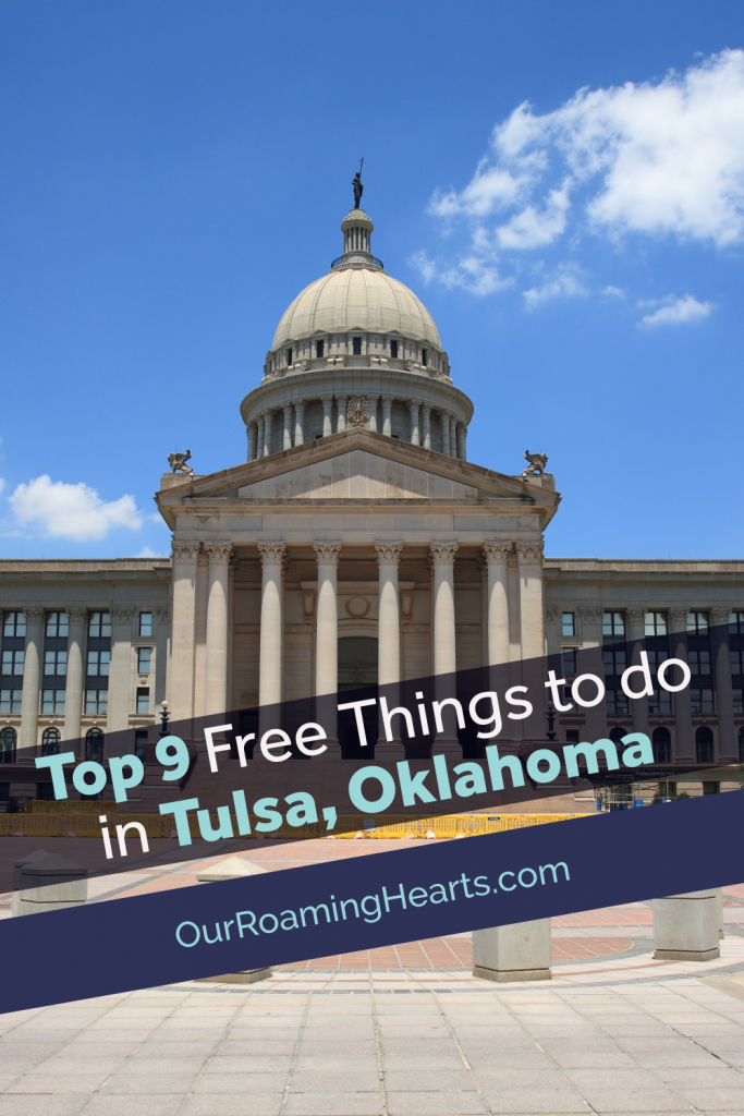 Tulsa is home to lots of fun! From the free parks to the free museum days, let's get started on the FREE things to do in Tulsa, Oklahoma.#ourroaminghearts #tulsa #oklahoma #freethingstodointulsa #frugaltravel #travelwithkids | Tusla Travel | Oklahoma Travel | Frugal Travel | Free things to do | Things to do in Tulsa |