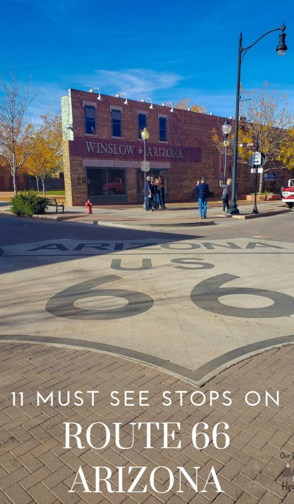 There are some must-see stops you need to make especially along the road in Arizona. Here are your must-sees stops as you travel Route 66 Arizona. #arizona #motherroad #route66 #ourroaminghearts | Sites on the Mother Road | Route 66 Stops | Arizona Route 66 |