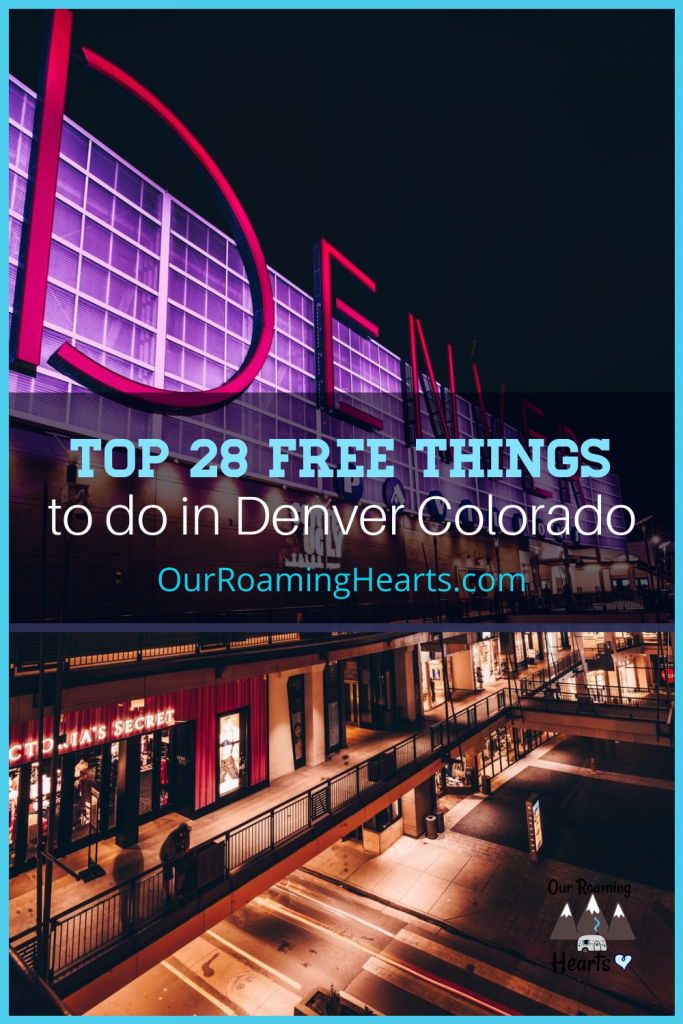 There is so much to do in Denver Colorado that your budget will need a break! Check out these 28 amazing free things to do in Denver! #denver #freethingstodo #ourroaminghearts #coloradotravel | Colorado | Free Things to do | Denver Travel | Travel Guide Denver | Free things to do in Denver |