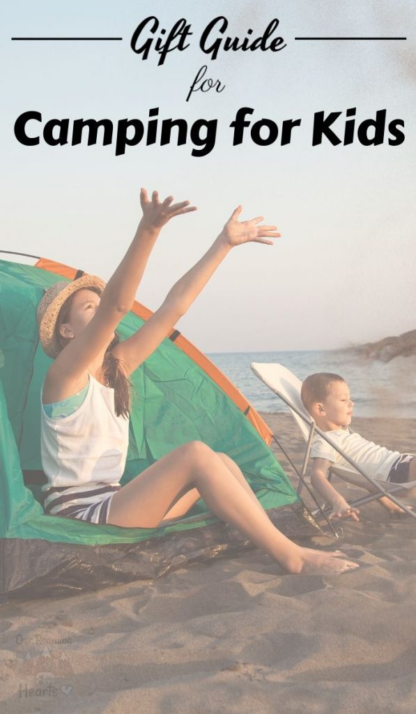 Get your kids into camping! Now sure how to start? Use this list of the Best Camping Gift Ideas for Kids to peak their interest. #ourroaminghearts #camping #giftguide #giftideasforkids #campingwithkids   Camping with Kids   Camping Gift Guide   Gift Guide   Camping Gifts for Kids  