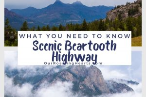 Beartooth Highway, a 68-mile byway through southwest Montana and into Yellowstone National Park. Here's a glance at some of the things to not miss. #ourroaminghearts #scenicbyway #beartoothhighway #wyoming #montana #nationalpark   National Park   Beartooth Highway   Scenic Drives   Wyoming   Montana  