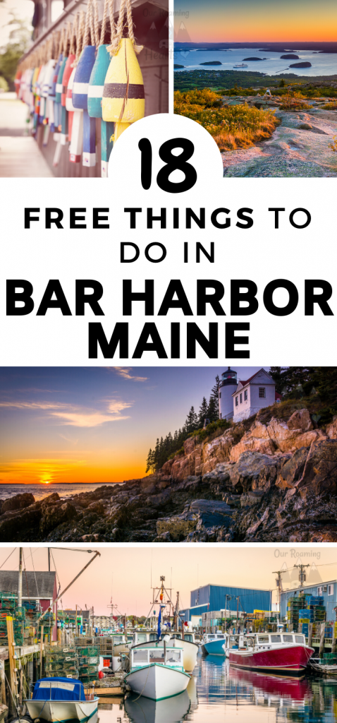 Free Things to do Bar Harbor Maine