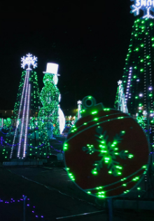 You are about to get a front-row seat to the largest animation Christmas lights show in the world. Bring the whole family for this adventure! #OurRoamingHearts #ChristmasLights #Arizona #Georgia #Tempe #Glendale #Marietta #HolidayActivies #FamilyFun   Family Fun For Christmas   Christmas Light Shows   Tempe Arizona   Glendale Arizona   Marietta Georgia   World Of Illumination   Christmas Traditions